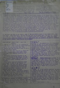 The fist newsletter printed in 1974
