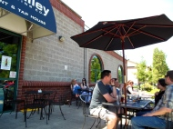 Hop Valley's patio was quite popular on a sunny Saturday in Eugene.