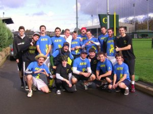 The AEPi kickball teams won both first and second place in the first annual Sigma Nu Kick Ball Cancer, which raises money for prostate cancer research.