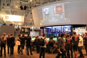 The International tournament area at Gamescom 2011