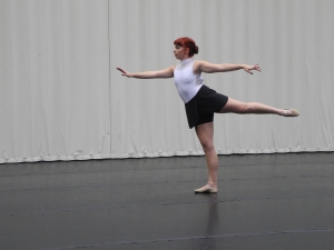 UO senior Megan Duling dances in Gerlinger Annex - a place that she spends almost 7 days a week dancing in.